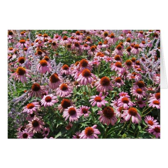 Campo de las flores del cono tarjeta de felicitación