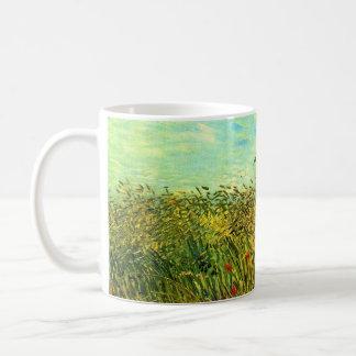 Campo de trigo con una alondra de Vincent van Gogh Taza De Café