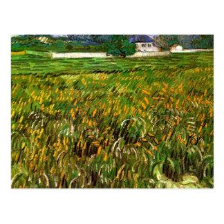 Campo de trigo en Auvers de Van Gogh Postal