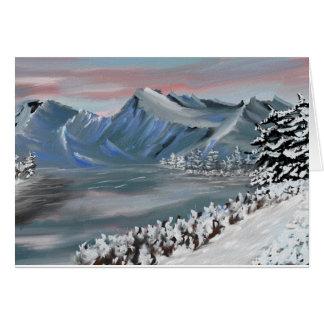 campo nevoso tarjeta de felicitación