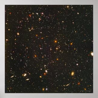 Campo ultra profundo 24x24 22x22 de Hubble Posters