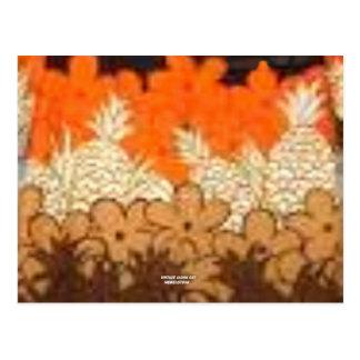 Campos de la piña (impresión de la hawaiana del postal