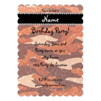 Camuflaje anaranjado conocido personalizado del invitación 12,7 x 17,8 cm
