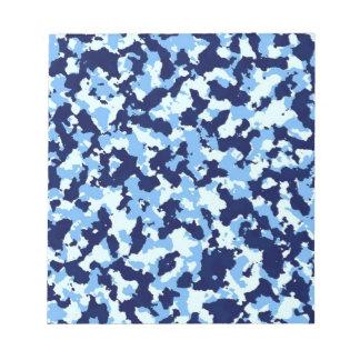 Camuflaje azul bloc de notas