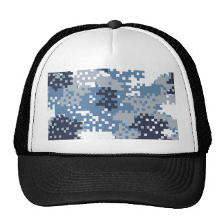 Camuflaje azul del pixel gorra