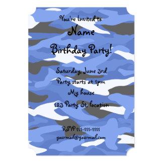 Camuflaje azul invitación 12,7 x 17,8 cm
