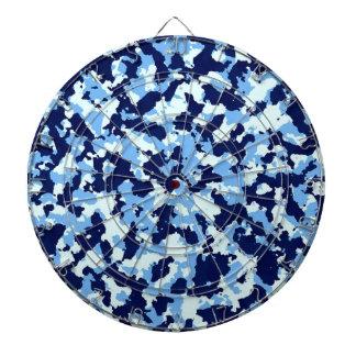 Camuflaje azul tabla dardos