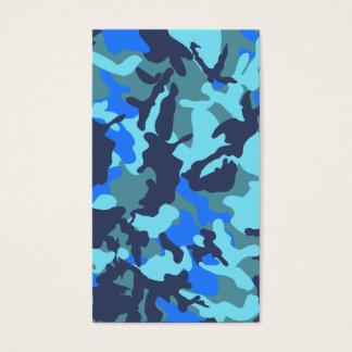 Camuflaje azul tarjeta de negocios