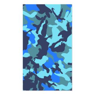Camuflaje azul tarjetas de visita