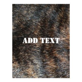 Camuflaje Brindle de la textura de la piel Folleto 21,6 X 28 Cm