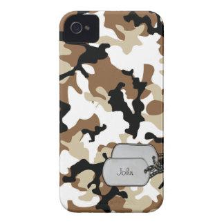 Camuflaje coloreado desierto de los militares iPhone 4 cárcasas
