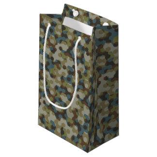 Camuflaje de color caqui del hexágono bolsa de regalo pequeña