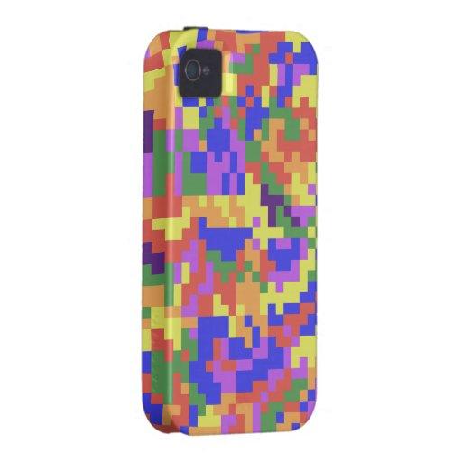 Camuflaje de Digitaces del arco iris Vibe iPhone 4 Funda