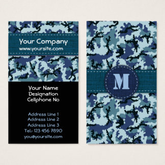 Camuflaje de la marina de guerra tarjeta de negocios