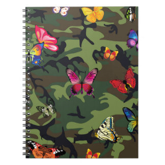 camuflaje de la mariposa cuaderno
