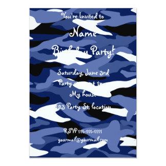 Camuflaje de los azules marinos invitación 12,7 x 17,8 cm