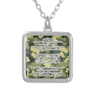 Camuflaje del ejército del poema del nieto collar plateado