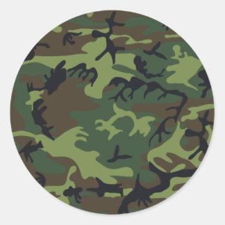Camuflaje del ejército pegatina redonda