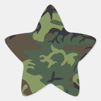 Camuflaje del ejército pegatinas forma de estrella personalizadas