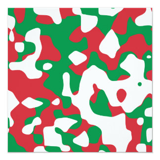 Camuflaje del navidad invitación 13,3 cm x 13,3cm