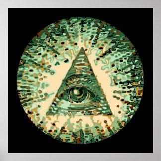 Camuflaje fresco y único Illuminati Póster