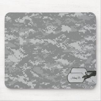 Camuflaje militar de Digitaces con las etiquetas d Alfombrilla De Ratón