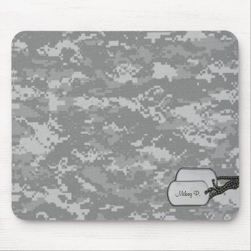 Camuflaje militar de Digitaces con las etiquetas d Alfombrilla De Raton