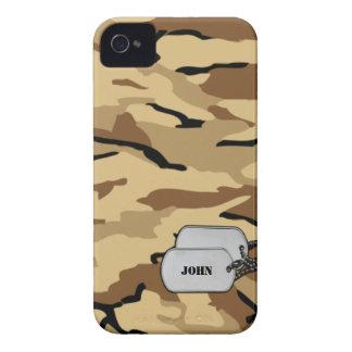 Camuflaje militar del desierto de Brown y del more iPhone 4 Case-Mate Protectores