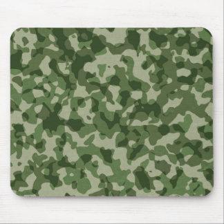 Camuflaje militar del verde de la selva alfombrilla de ratón