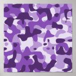 Camuflaje púrpura poster