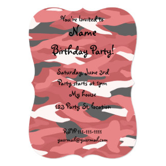 Camuflaje rojo invitación 12,7 x 17,8 cm