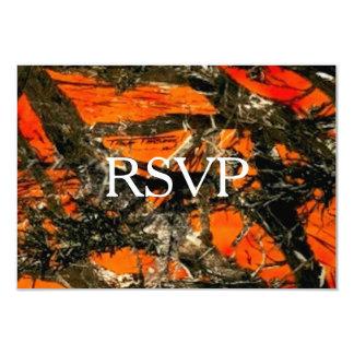 Camuflaje RSVP Invitación 8,9 X 12,7 Cm