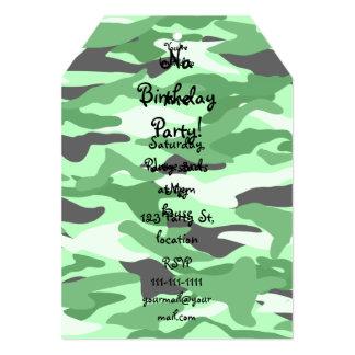 Camuflaje verde claro invitación 12,7 x 17,8 cm