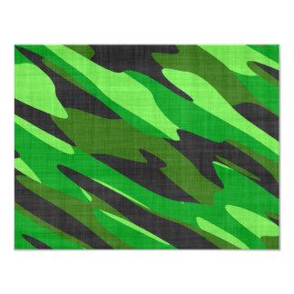 camuflaje verde del ejército de la selva invitación 10,8 x 13,9 cm