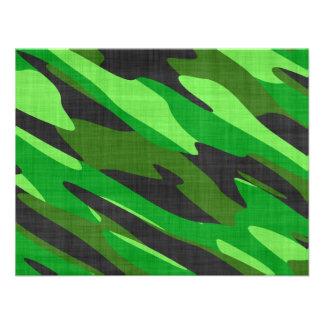camuflaje verde del ejército de la selva texturiza invitacion personalizada