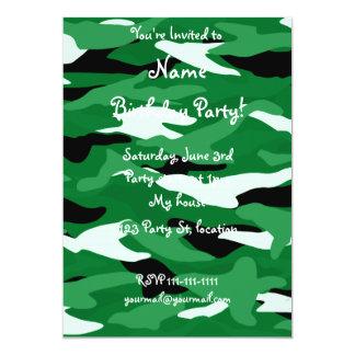 Camuflaje verde invitación 12,7 x 17,8 cm