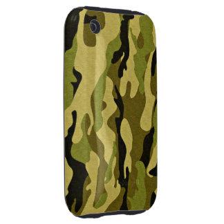 camuflaje verde militar tough iPhone 3 carcasas