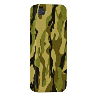 camuflaje verde militar iPhone 4 funda
