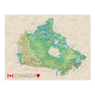 ♥ Canadá de las POSTALES del MAPA