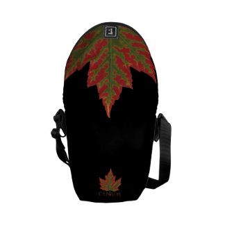Canadá empaqueta la bolsa de mensajero de la hoja