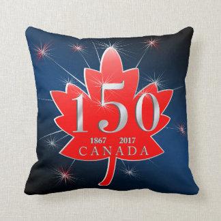 Canadá hoja de arce de la celebración de 150 cojín decorativo