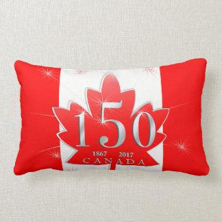 Canadá hoja de arce de la celebración de 150 cojín lumbar