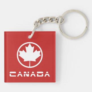 Canadá Llavero Cuadrado Acrílico A Doble Cara
