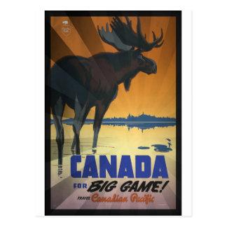 Canadá para el poster del viaje del vintage del postal