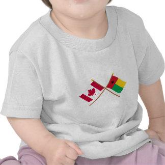 Canadá y banderas cruzadas Guinea-Bissau Camiseta