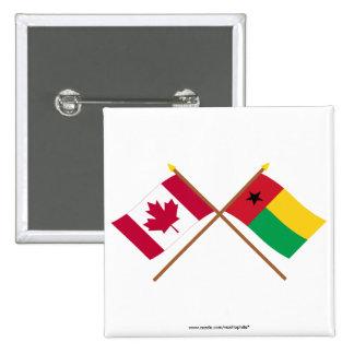 Canadá y banderas cruzadas Guinea-Bissau Pin