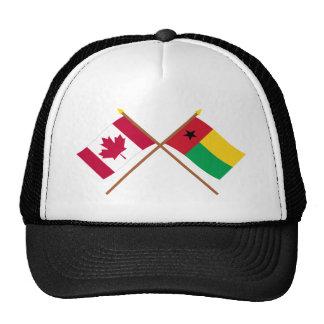 Canadá y banderas cruzadas Guinea-Bissau Gorra