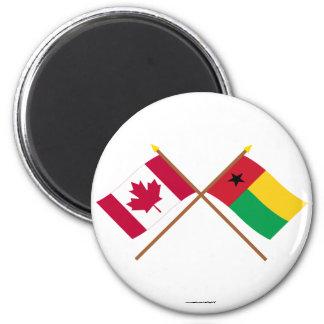 Canadá y banderas cruzadas Guinea-Bissau Iman Para Frigorífico