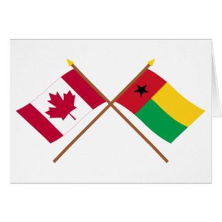 Canadá y banderas cruzadas Guinea-Bissau Tarjetón