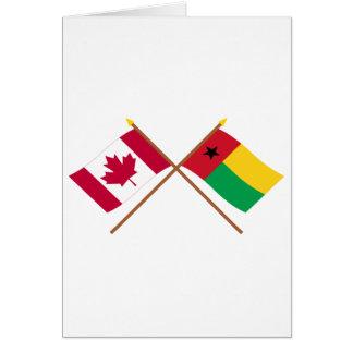 Canadá y banderas cruzadas Guinea-Bissau Tarjeta De Felicitación